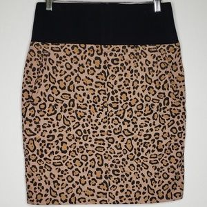 Suzanne Somers Leopard Print Mini Skirt Back Zip